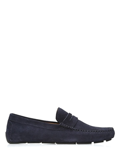 Beymen Club %100 Deri Loafer Ayakkabı Lacivert